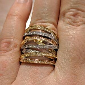 Henri Bendel Tricolor Ring